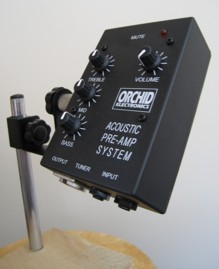 Pre-amp on stand